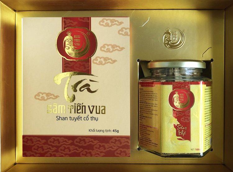 Một loại trà được chế biến từ thảo dược Sâm Tiến Vua